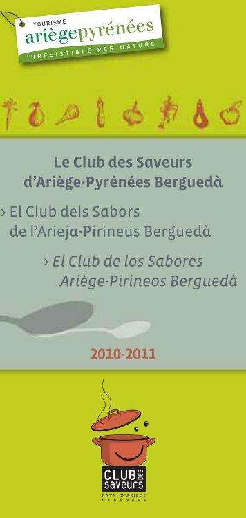 Plaquette du Club des Saveurs - CCI Ariège