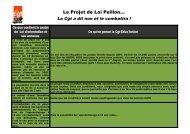 Le Projet de Loi Peillon...