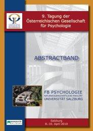 Abstractband der 9. wissenschaftlichen Tagung der ...