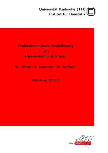 Problemorientierte Modellierung von Faserverbund-Strukturen