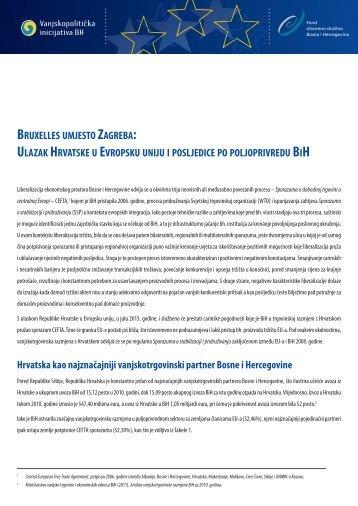 ulazak hrvatske u evropsku uniju i posljedice po poljoprivredu bih