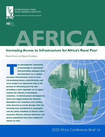 Increasing access to infrastructure for Africa's rural poor