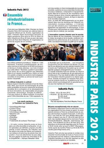 INDUSTRIE PARIS 2012