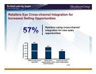 R t il E C h l I t ti f Retailers Eye Cross-channel Integration ... - Summit