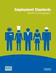 Employment Standards Tool Kit for Employers - Enterprise and ...