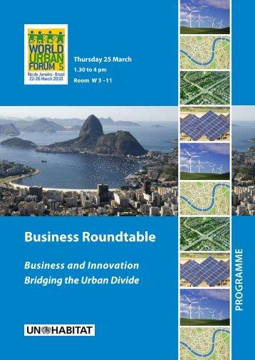Thursday 25 March - UN-Habitat
