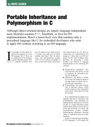 Portable Inheritance and Polymorphism in C, 12/97
