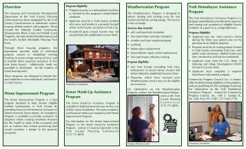 Housing Assistance Brochure - York County Planning Commission
