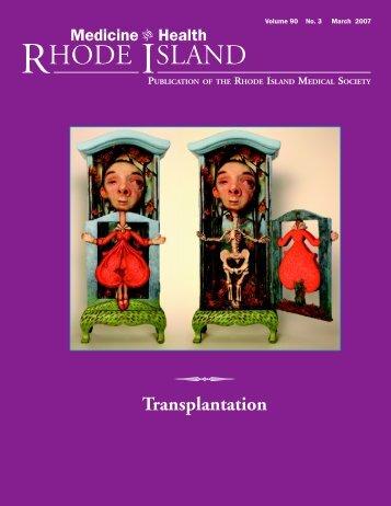 Transplantation - Rhode Island Medical Society