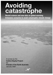 Avoiding catastrophe - Friends of the Earth Australia