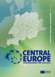 CENTRAL EUROPE Implementation Manual - Urban spaces