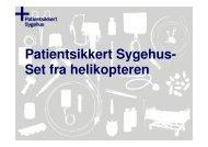 Se Beth Liljas præsentation - Sikker Patient