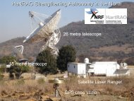 HartRAO Strengthening Astronomy in the North
