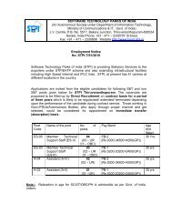 SOFTWARE TECHNOLOGY PARKS OF INDIA (An ... - STPI