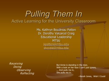 Pulling Them In: Active Learning