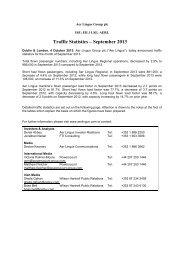 Traffic Statistics – September 2013 - Corporate Aer Lingus
