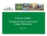 Program Update Commercial New Construction & Major Renovation