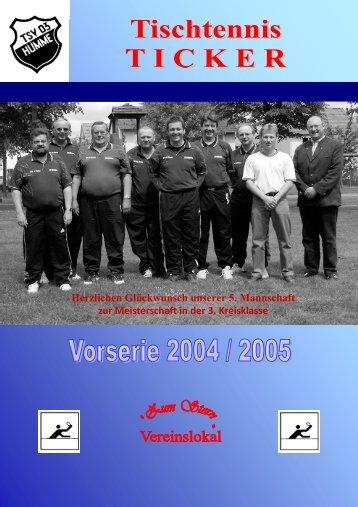 Ticker Heft 1 - TSV 03 Hümme e. V.