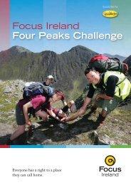 01 Four Peaks Challenge 2011 Booklet - Focus Ireland