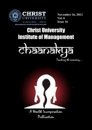 1. Chaanakya - Christ University