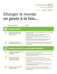 Changer le monde un geste à la fois... - Yellow Pages Group