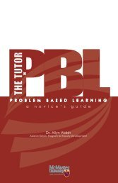 Tutor's Guide to PBL - Faculty of Health Sciences - McMaster ...