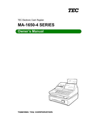 Tec fs-1650 manual.