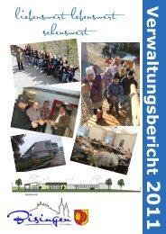 Umschlag Verwaltungsbericht 2011 - Gemeinde Bisingen
