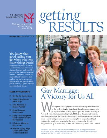 October 2011 Results Newsletter - The New York Community Trust