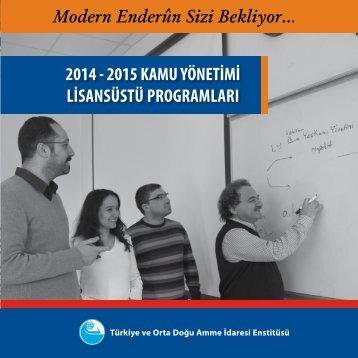 2014-2015_TODAIE_Lisansustu_Programlar