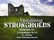 WARFARE 101 2 Corinthians 10:1-5 - Faith Fellowship Church