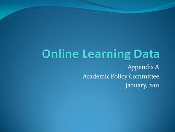 Appendix A: Online Learning Data - Stockton College