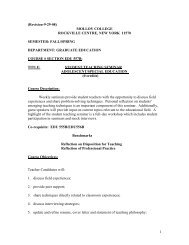 (Second Draft Revision-9-24-08) - Molloy College