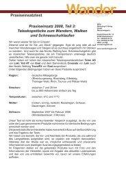 Wander magazin Praxiseinsatztest Praxiseinsatz 2008, Teil 3