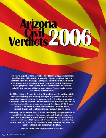 Arizona Civil Verdicts - Lawyers