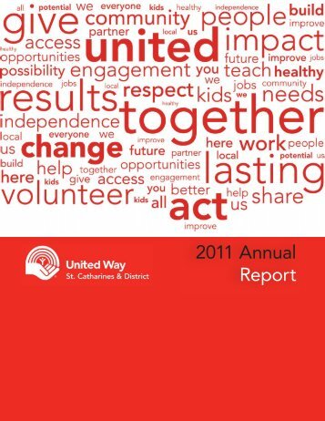 I have been committed to United - United Way of St. Catharines ...