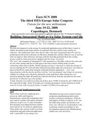 Euro SUN 2000 The third ISES-Europe Solar Congress Visions for ...