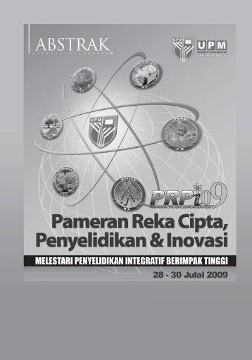 ABSTRAK PRPI 2009.pdf - Universiti Putra Malaysia