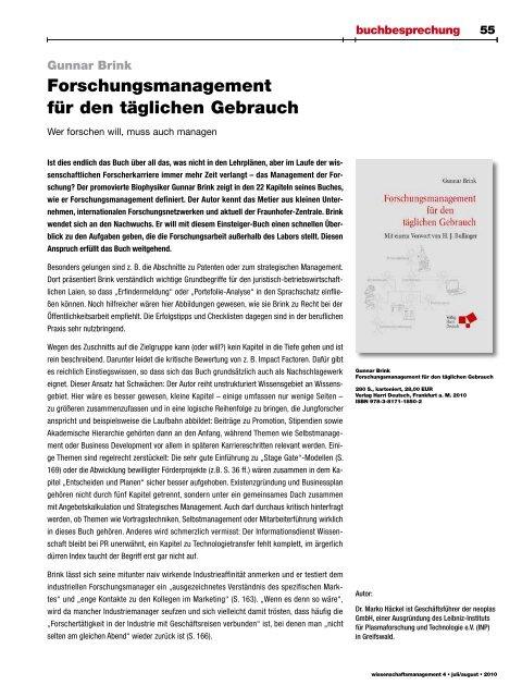 Z e i t s c h r i f t f ü r i n n o v a t i o n - Lemmens Medien GmbH