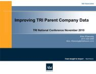 Improving TRI Parent Company Data - ChemicalRight2Know