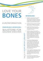LOVE YOUR - Aktion gesunde Knochen