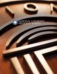 National University President Search
