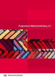 Programma Wijkontwikkeling 2.0 - Gemeente Breda