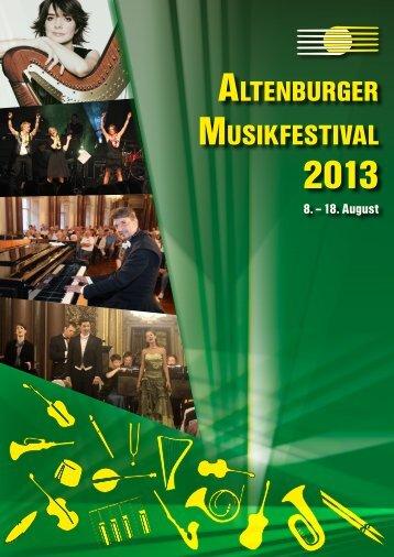 soNDERKoNZERt - Altenburger Musikfestival 2013