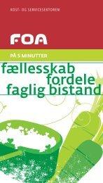 Medlemsorganisering: Kost-Service sektoren - FOA