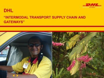 DHL sales presenter - Transport Planning Unit