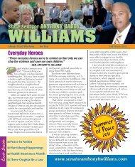 Fall/Winter 2011 - Senator Anthony H. Williams