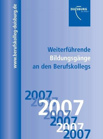 Weiterf. Bildungsgänge 2007 neu - Sophie-Scholl-Berufskolleg