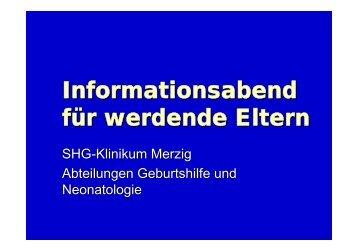 Informationsabend für werdende Eltern - Klinikum Merzig