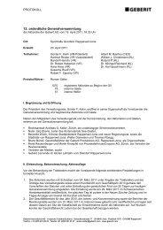 Geschäftsjahr 2010 - Geberit International AG